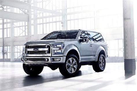 bronco prototype 2016 ford bronco price concept interior svt diesel