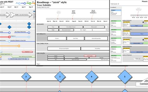 Visio Project Timeline Template by Visio Roadmap Templates A Clean