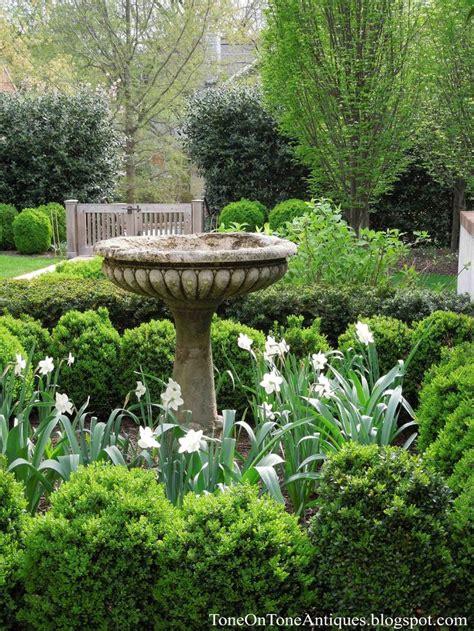 garden with bird bath dering landscape garden