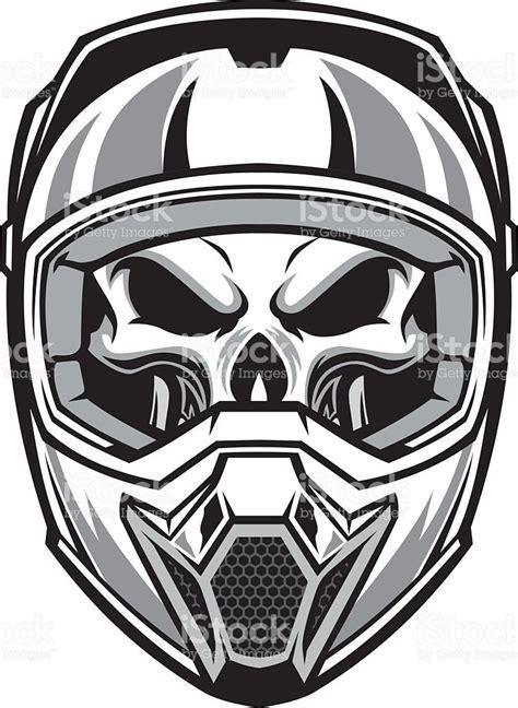 helm bell downhill skull wearing motocross helmet stock vector 531109451