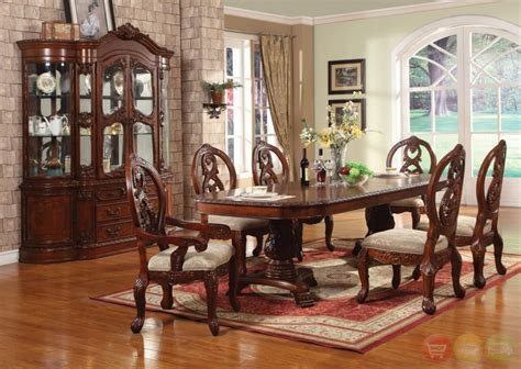Dining Room Sets by Windham Carved Traditional Formal Dining Room Set Cherry
