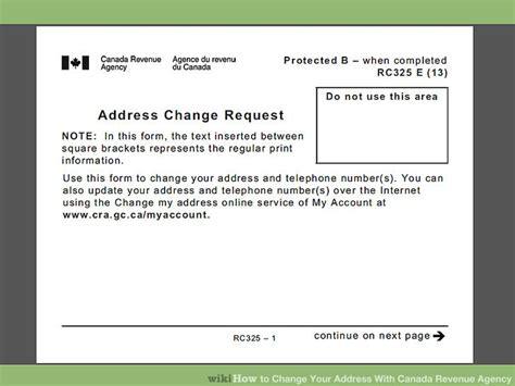 change  address  canada revenue agency  steps