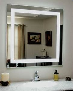 Backlit, Square, Bathroom, Mirror, With, Led, Border, 75cm