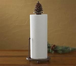 Pinecone Paper Towel Holder