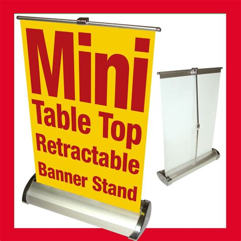 custom mini table top retractable banner stand