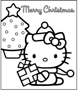 Hello Kitty Christmas Coloring Pages Best Gift Ideas Blog
