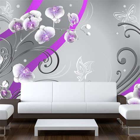 tapete große blumen fototapete ornamente blumen orchidee vlies tapete