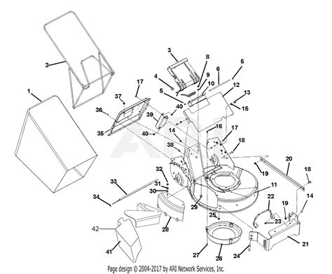 gravely 911253 000101 pro21 6 0hp kawasaki recoil parts diagram for mower deck and bagger