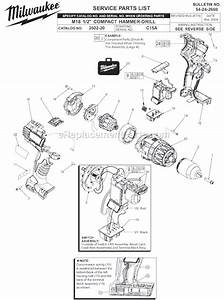 Milwaukee 2602-20 Parts List And Diagram