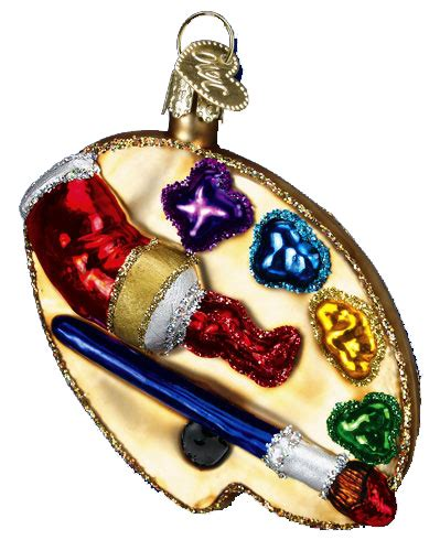 old world christmas ornaments artists palette 36065