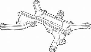 Chevrolet Equinox Suspension Subframe Crossmember  2 Wheel