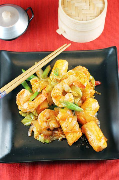 ruth reichls spicy korean rice sticks  shrimp