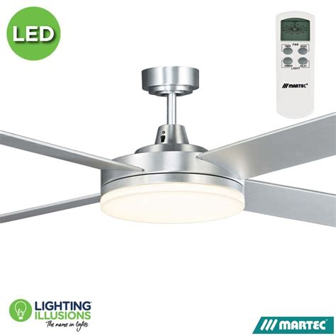Ceiling Fan With Dimmable Light by White Warm White Martec Razor 1300mm 52 Quot Low Profile