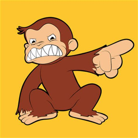 furious george curious george vs evil from society6 olechka