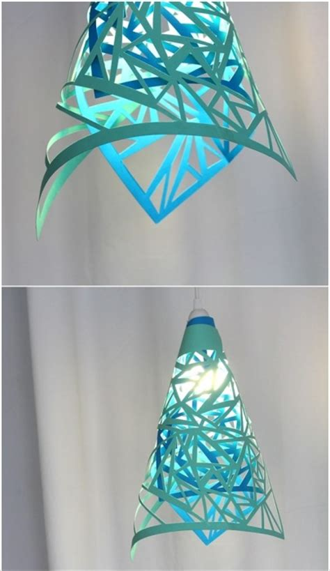 ways  reuse paper   handmade lamps