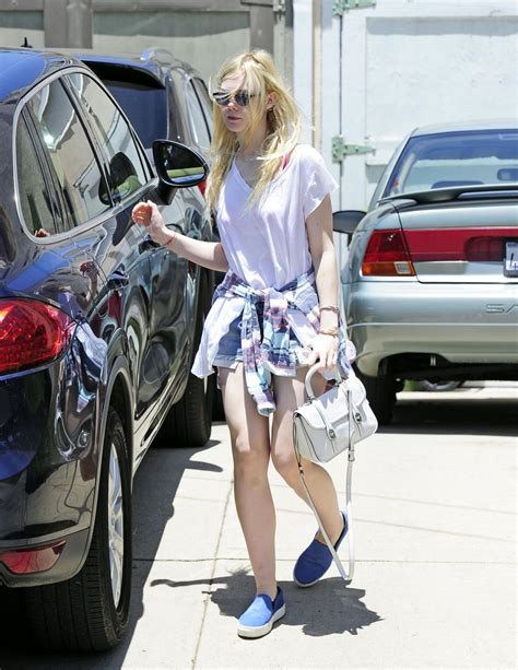 Elle Fanning Street Style Out West Hollywood June