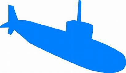 Submarine Clip Clipart Silhouette Cartoon Vector Clker