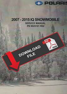 Polaris 2011 Iq Snowmobiles Service Manual