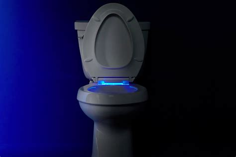kohler    cachet elongated closed front toilet seat  nightlight white faucetdepotcom