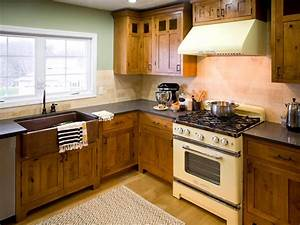 Rustic kitchen cabinets pictures options tips ideas for Kitchen cabinet trends 2018 combined with carolina panthers wall art