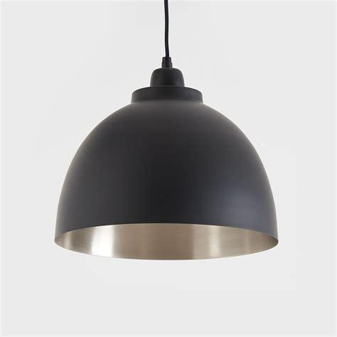 Black Pendant Light by Black And Nickel Pendant Light