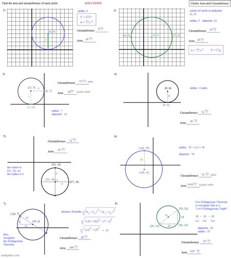 Geometry Worksheet Arc Length Sector Area Segment Area Worksheets For All  Download And Share