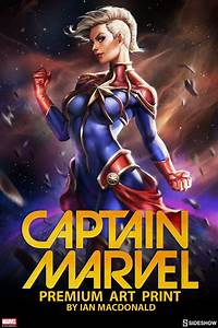 Marvel Captain Marvel Premium Art Print by Sideshow ...