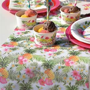 Chemin De Table Tropical : chemin de table th me tropical pour f tes color es drag es anahita ~ Melissatoandfro.com Idées de Décoration