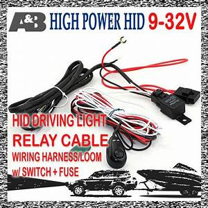 New Relay Cable Switch For Hid Driving Light Spotlight