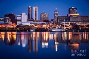 Peoria Illinois Skyline At Night Photograph by Paul Velgos