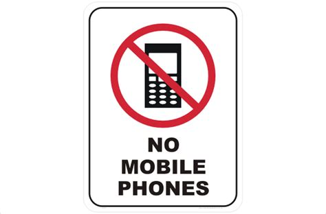 sign in mobile phone no mobile phones sign p2217 national safety signs