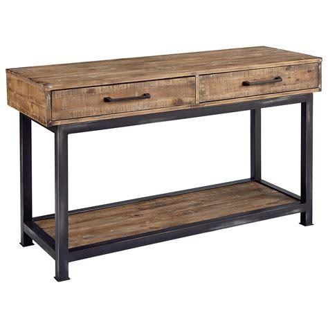 industrial sofa table magnolia home by joanna gaines industrial pier and beam Industrial Sofa Table