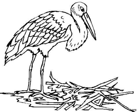 storch baut nest ausmalbild malvorlage fruehling