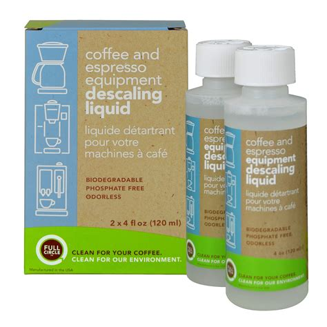 Urnex Full Circle Coffee And Espresso Descaler 4 Ounce 2 Single Use Bottles Safe On Keurig