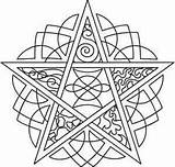 Pentagram Coloring Pages Pagan Pentacle Embroidery Urban Designs Mandala Elements Wiccan Urbanthreads Adult Five Celtic Unique Patterns Colouring Template Tattoos sketch template
