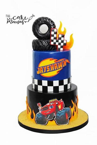 Cakes Cake Birthday Wheels Custom Cupcake Blaze