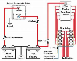 Stinger Sgp38 80 Amp Battery Isolator And Relay Wiring