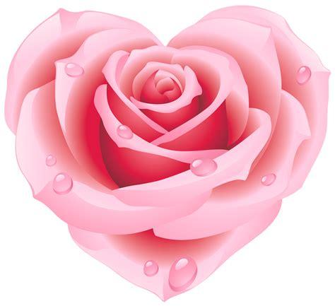 Rose Pink Heart Shapes Clip Art