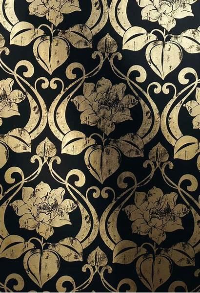 Deco Gold Desktop Wallpapers Nouveau Pattern Patterns