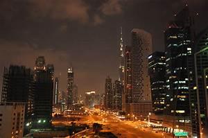 Wallpapers Dubai Emirates UAE Roads night time Skyscrapers ...