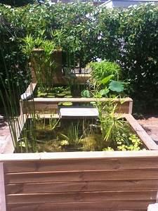bassins hors sol 600l400l avec cascade bassin cuve With photos de bassins de jardin 5 potager