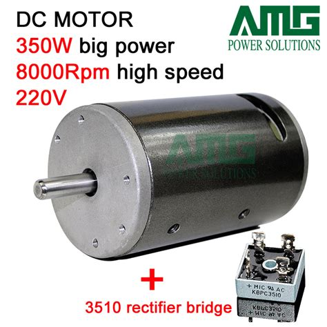 Moto 220v by 350w 8000rpm 220v Dc Motor With Bracket Singgle Way