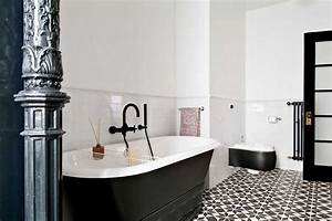 black and white bathroom tile flooring ideas home With black and white tile bathroom decorating ideas