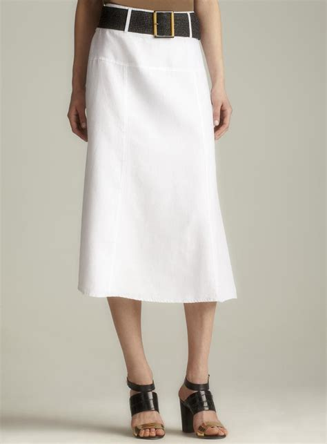 cynthia belted linen skirt overstock shopping top