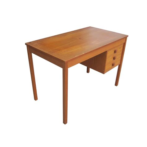 small 3 drawer desk midcentury retro style modern architectural vintage