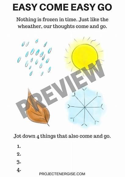 Mindfulness Worksheets Printable Pdf
