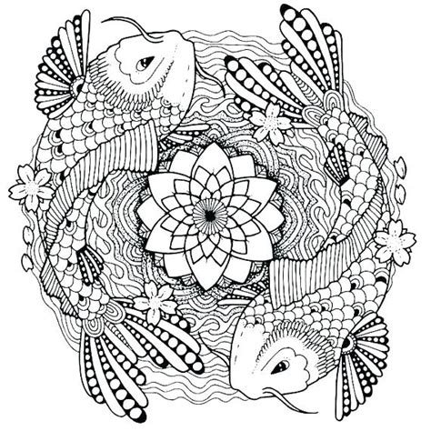 fish coloring pages  adults  getcoloringscom
