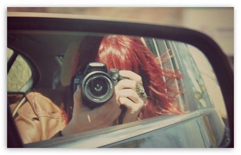 rearview mirror girl  hd desktop wallpaper   ultra