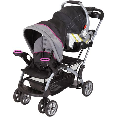 Baby Trend Raspberry Sit 'n Stand Double Stroller For