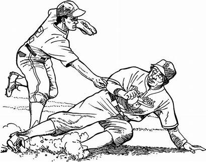 Coloring Pages Baseball Dodgers Los Angeles Dodger